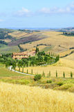 Creta Senesi (Toscana, Italia) Imagen de archivo libre de regalías