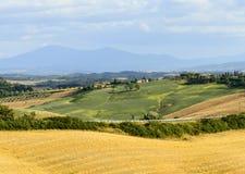 Creta Senesi (Toscana, Italia) Foto de archivo