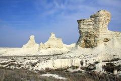 Cretaceous berg Kasakhstan arkivfoton