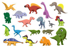 Cretaceous Dinosaurs Cartoon Vector Illustration Royalty Free Stock Photo