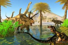 Cretaceous Swamp Royalty Free Stock Photography