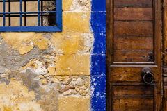 Cretan door detail. House door detail in Chania, Crete Royalty Free Stock Photo