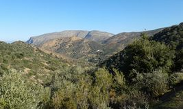 Cretan landscape. Hills. Mountains. Near Fodele. Crete. Greece Stock Images