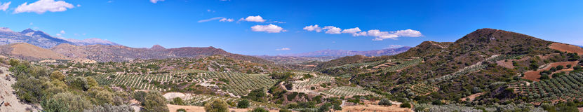 Cretan landscape panorama Royalty Free Stock Photo