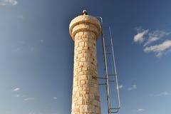 Cretan lighthouse. On background blue sky Stock Image