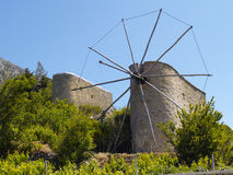 Cretan mills Royalty Free Stock Images