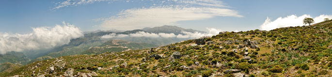 Cretan Mountains Panorama Royalty Free Stock Photos