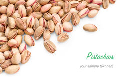 Cretan pink pistachios as background Royalty Free Stock Photography
