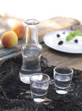 Cretan raki royalty free stock photography