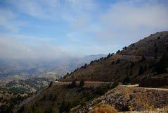 Cretan mountain road. Cretan mountain serpentine road. Lefka Ori Stock Photography
