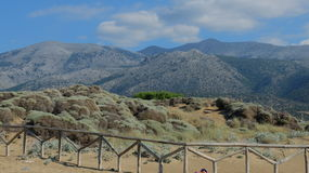 Cretan sea. The Paralia beach of the Cretan sea, not far from the resort town of Malia. The Island Of Crete, Greece Stock Photos