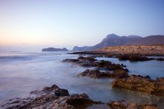 Cretan Seascape. Coastal Seascape on the West Coast of Crete Stock Photography
