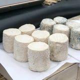 Cretan soft cheese for sale Stock Photos
