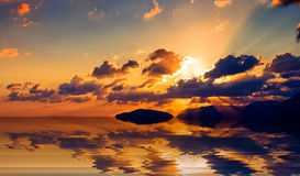 Cretan sunrise. Royalty Free Stock Image