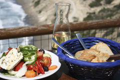 Cretan taverna meal Royalty Free Stock Photography