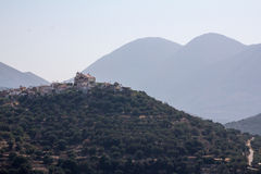 Cretan village in the mountains. Royalty Free Stock Image