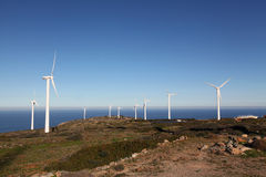Cretan Windfarm Stock Images