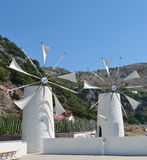 Cretan windmills Stock Image