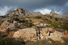 Cretanberg, Grekland Arkivfoto