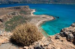 Cretanhavslandskap: Gramvousa ö Royaltyfri Foto