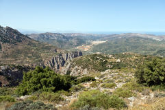 Crete . Panoramic landscape over Mountains in Crete, Greece stock images