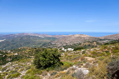 Crete . Panoramic landscape over Mountains in Crete, Greece royalty free stock photos