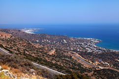 Crete aerial view(Greece) Stock Images