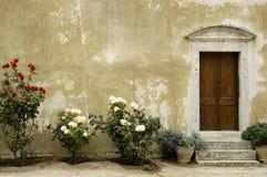 Crete Arkadi Convent. Rethymnon Flowers Royalty Free Stock Images