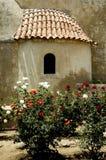 Crete Arkadi convent window Royalty Free Stock Photography