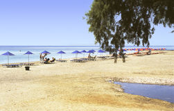 Crete beach Royalty Free Stock Photography