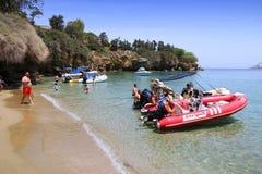 Crete beach Stock Photography