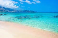 Crete beach Elafonisi Royalty Free Stock Images