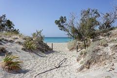 Crete beach Elafonisi stock photo