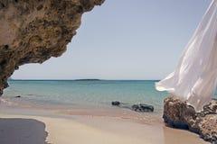 Crete beach Elafonisi stock images