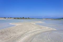 Crete beach Elafonisi royalty free stock photography