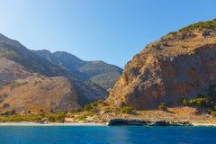 Crete blisko Agia Roumeli, Grecja Obrazy Stock