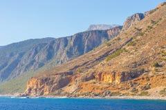 Crete blisko Agia Roumeli, Grecja Obraz Royalty Free