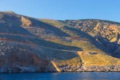 Crete blisko Agia Roumeli, Grecja Obrazy Royalty Free