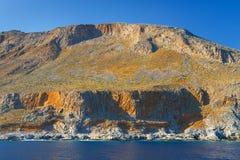 Crete blisko Agia Roumeli, Grecja Zdjęcia Stock