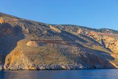 Crete blisko Agia Roumeli, Grecja Fotografia Stock
