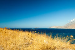 Crete. Bright contrasting views. Crete. Bright contrasting views of the Aegean Sea Royalty Free Stock Images