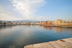 Crete,Chania,View of city with river Royalty Free Stock Photos