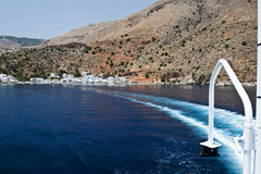 Crete coast. View fronm a boat of the crete coast Stock Photography