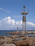 crete coastal view and sea breakers Royalty Free Stock Photo