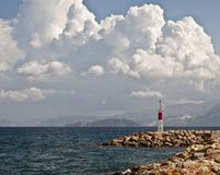 Crete coastal view and sea breakers Stock Photo