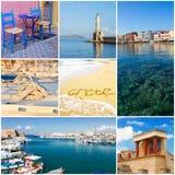 Crete collage, Greece Royalty Free Stock Photo