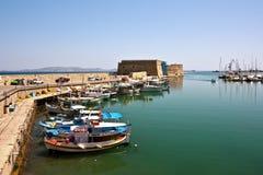 crete fästning greece heraklion Arkivfoton