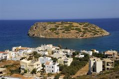 crete fiskeläge Arkivfoto