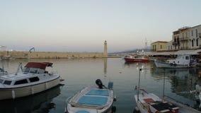 CRETE, GRECJA 07 10 2016 port Rethymno zbiory wideo
