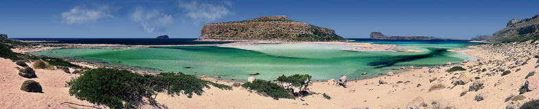 Crete Greece. Panoramic of Balos Beach, Crete island, Greece Stock Images